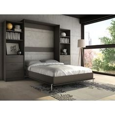 Stellar Home Furniture Queen Wall Bed   Overstock.com Shopping - The Best Deals on Beds