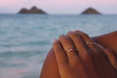 omg, these are the coolest!  wear the Mokes with you everywhere you go!  Mokulua ring- Mokulua islands (twin islands) ring