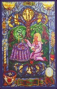 Moon. Pearls of Wisdom Tarot