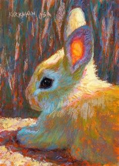 """Bettye "" - © Rita Kirkman ~ Original Fine Art For Sale ~ Original Pastel Art And Illustration, Illustrations, Bunny Painting, Painting & Drawing, Watercolor Animals, Watercolor Art, Rabbit Art, Bunny Rabbit, Bunny Art"