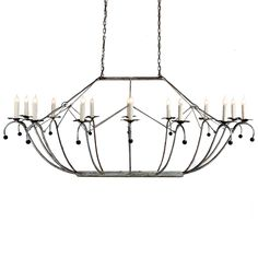 Oval White Basket Chandelier | Made in USA | Lowcountry Originals Lighting