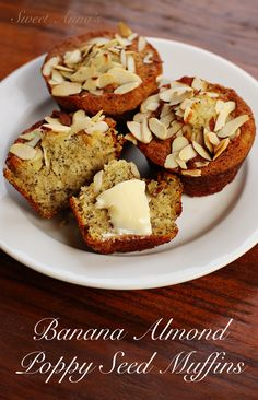 Yep, you read that right. Banana Almond Poppy Seed Muffins. I am that indecisive. I had a bunch of bananas to use up, and thought muffins sounded fun. But then, almond poppy seed muffins are rea...