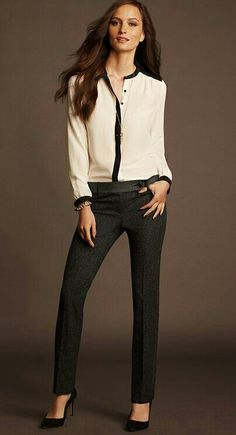 Look chic in this sexy office wear outfit. The high heels make the wearer look tall and sexy Chic Office Outfit, Office Fashion, Office Outfits, Business Fashion, Work Fashion, Fashion Outfits, Womens Fashion, Fashion Trends, Office Wear