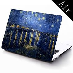 Starry Night by Vincent Van Gogh Design Full-Body Protective Plastic Case for 11-inch/13-inch New Mac Book Air – USD $ 25.99