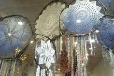 Doily dreamcatchers are so elegant and beautiful with a touch of bohemian flair. They also make perfect pieces to sell for room decor.