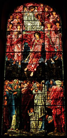 Birmingham Cathedral is a relatively modest structure compared to the likes of Durham, Canterbury, Winchester and other more impressive cathedrals, but it has lovely stained glass. This is the Burne-Jones west window, (photo by Michael Wilby, via Flickr).