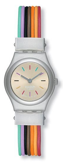 Swatch Filamento Multicolore Ladies Watch