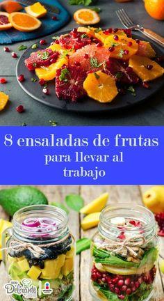8 ensaladas con frutas que puedes llevar al trabajo