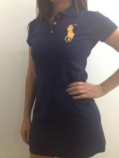 Vestido Feminino Polo Ralph Lauren - R$ 59,90 no MercadoLivre Polo Ralph Lauren, Ideias Fashion, What To Wear, Fashion Dresses, Style Inspiration, Shorts, My Style, Womens Fashion, Mens Tops