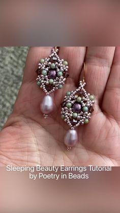 Diy Seed Bead Earrings, Seed Bead Jewelry, Beaded Earrings, Diy Beaded Bracelets, Handmade Beaded Jewelry, Jewelry Making Tutorials, Beading Tutorials, Beading Patterns, Beaded Jewelry Patterns