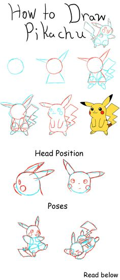 How to Draw Pikachu by PikaAly on DeviantArt