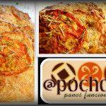 Pan(Sourdough) con romero, tomate y queso de cabra - via @pochove