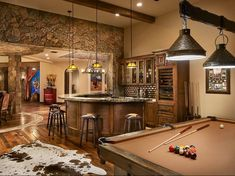 Awesome man cave for basement of Farm House