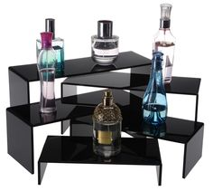 Amazon.com - Black Acrylic Risers for Counters, Set of 5 U-shaped Display Stands, 5 Different-sized Fixtures -