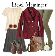 """Liesel Meminger // The Book Thief"" by glitterbug152 ❤ liked on Polyvore featuring J.Crew, Lands' End, Rachel Rachel Roy, books, thebookthief, lieselmeminger and allegrabounds"