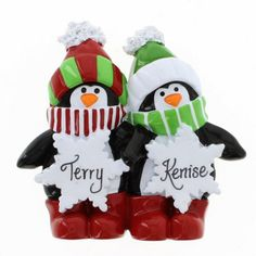 Penguin Snowflake Family of 2  ~ UPC: 845583051250