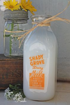 Vintage Milk Bottle Shady Grove Dairy Milk by SweetMagnoliasFarm