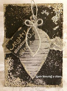 Card by Lynne Moncrieff using Darkroom Door Brushed Christmas Vol 2 and Stitched Christmas Rubber Stamps http://www.darkroomdoor.com/rubber-stamp-sets/rubber-stamp-set-brushed-christmas-vol-2