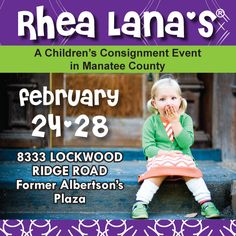 Rhea Lana's of Manatee County  www.manatee.rhealana.com      Feb 24 - 28, 2013