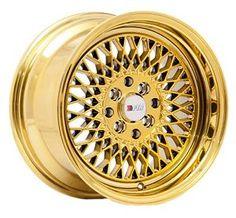 One 25 Gold Chrome Wheel Gold Wheels, Chrome Wheels, Honda Civic Rims, 3rd Wheel, Gold Chrome, Scion, Jdm, Ebay, Japanese Domestic Market