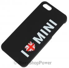 MINI COOPER CUSTODIA ORIGINALE BACK COVER CASE I LOVE MINI APPLE IPHONE 5 5S NERA BLACK NEW NUOVA - SU WWW.MAXYSHOPPOWER.COM