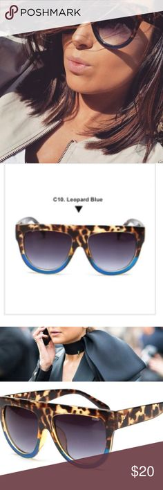 900494567f Last pair trending sunglasses Blue Kim k Celine NWT Brand new w tag.  Inspired no