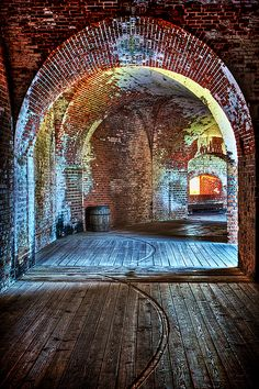 Interior arches of Civil War-era Ft. Pulaski, near Savannah, Georgia. (photo by Jim Crotty)