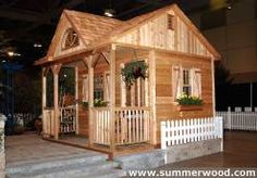 Canmore Cedar Cabins   Small Rustic Cabin Plans, Kits & Designs, maybe a wee bit too small, but darn cute
