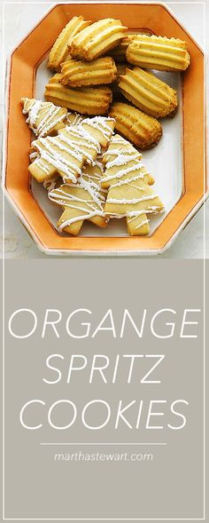 Orange zest gives these buttery cookies a zingy flavor.