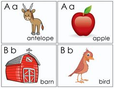 Flash Cards A-B - Free Printable Coloring Pages