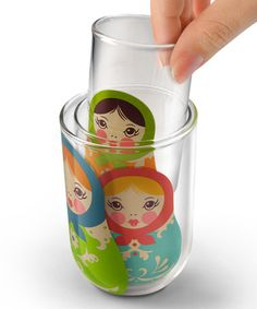 Love this Babushkup Nesting Glass Set on #zulily! #zulilyfinds----my daughter has these, well has one left.  They are very fragile.