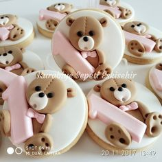 1 million+ Stunning Free Images to Use Anywhere Baby Boy Cookies, Baby Shower Cookies, Cute Cookies, Cupcake Cookies, Sugar Cookies, Fondant Cupcakes, Biscuit Decoration, Teddy Bear Cakes, Galletas Cookies