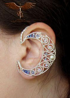 Crescent moon ear wrap by alina-loreley on DeviantArt