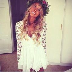 Dresses & Skirts - Flower sleeves playsuit