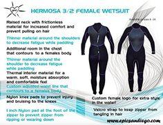 Wetsuit Female Full 3/2 Hermosa (size 8) - Brought to you by Avarsha.com