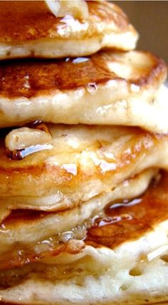 Banana Buttermilk Pancakes ~ A fluffy stack of heaven!