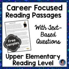 FREE Career Exploration Reading Comprehension Passages and Questions 2nd Grade Reading Worksheets, Reading Resources, Teacher Resources, Text Based Evidence, Guided Reading Levels, Career Exploration, Reading Comprehension Passages, Listening Skills, Student Reading