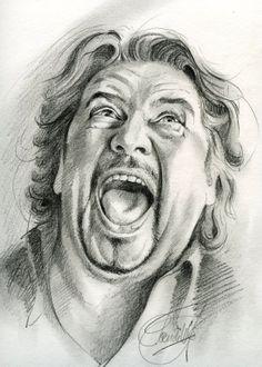 Poen de Wijs heeft Fred geportretteerd. Een van de eerste potlood portretten.