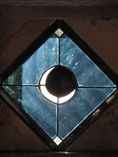 Crescent moon stained glass window