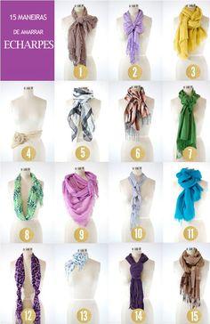 Echarpes, cachecol e lenços, como usar...                                                                                                                                                                                 Mais