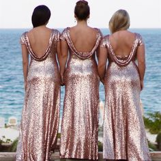 love it! rose pink sequin dress for you bridesmaid!                                                                                                                                                                                 More