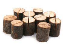 10 Kartenhalter aus Holz, rustikal-Tischdekoration