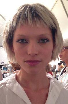 Hana Jirickova #backstage at #MarcJacobs hair by Guido Palau and make-up by François Nars #NYFW