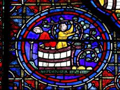 Window at #Chartres Cathedral, France.  Why Colors You See in an Art Museum Can't Be Replicated Today.
