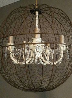 Check out this item in my Etsy shop https://www.etsy.com/listing/289584117/orb-light-fixture-orb-chandelier-chicken