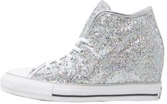 Converse CHUCK TAYLOR ALL STAR MID Hightop trainers silver/white/storm wind