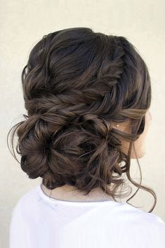Bridal Hairstyles : 30 Graceful Wedding Updos With Braids wedding updos with braids messy low ha