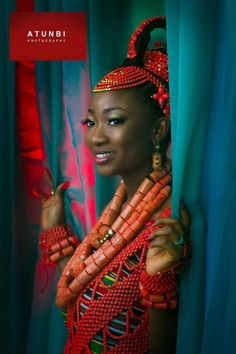 Edo brides http://www.vozafric.com/edo-brides-in-beautiful-beaded-benin-wedding-attire/A