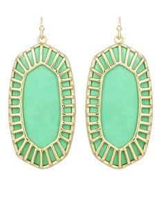 Delilah Oval Earrings in Mint - Kendra Scott Jewelry #KSadventure #KendraScott