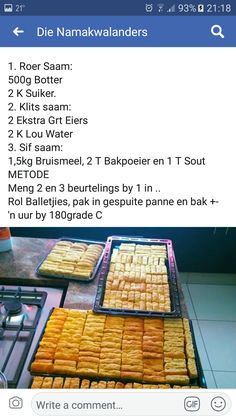 Bread Recipes, Baking Recipes, Daily Bread, Waffles, Breakfast, Afrikaans, Kos, Breads, Biscuits